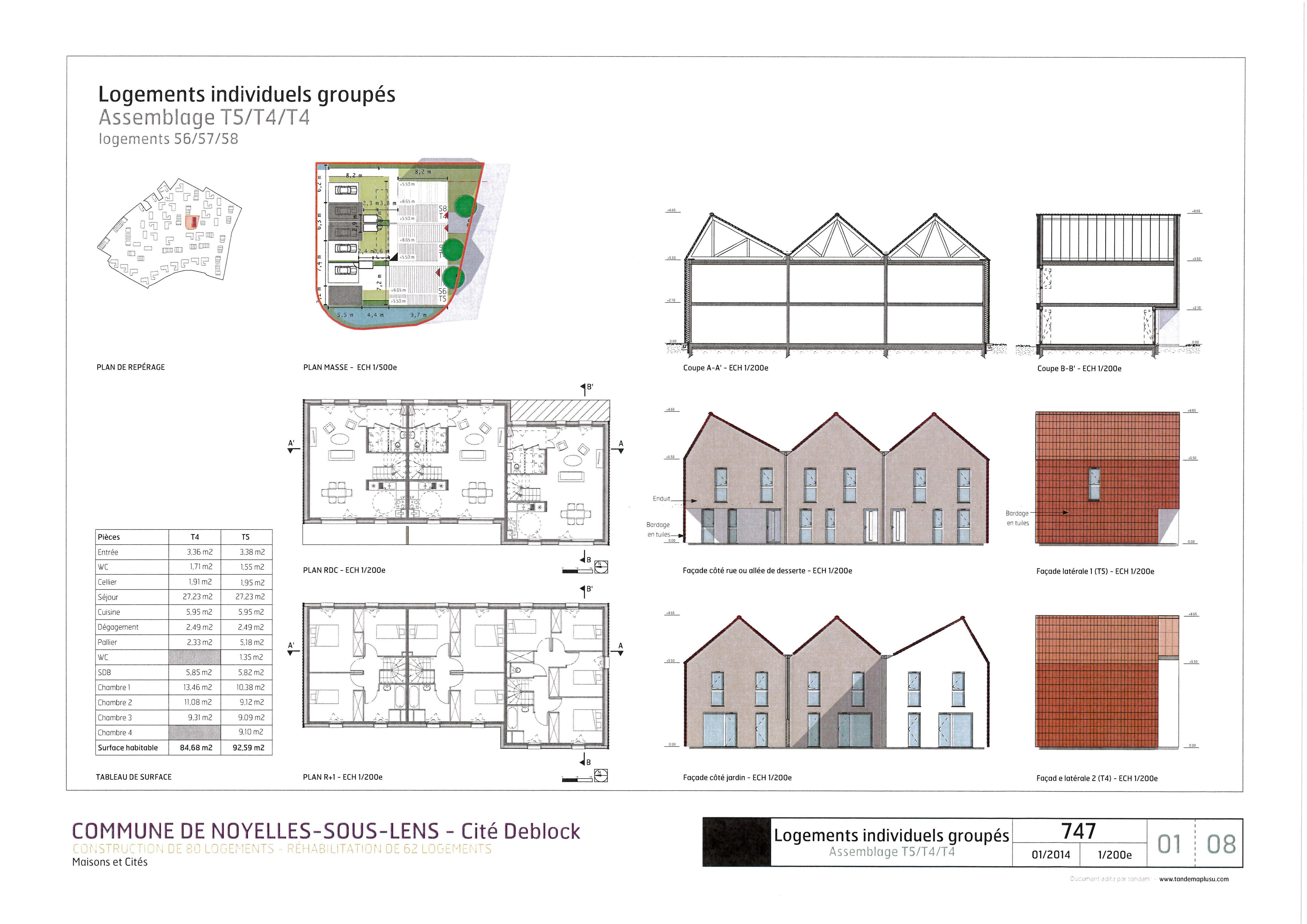noyelles sous lens rue de la napoule lot n 2 maisons cit s. Black Bedroom Furniture Sets. Home Design Ideas