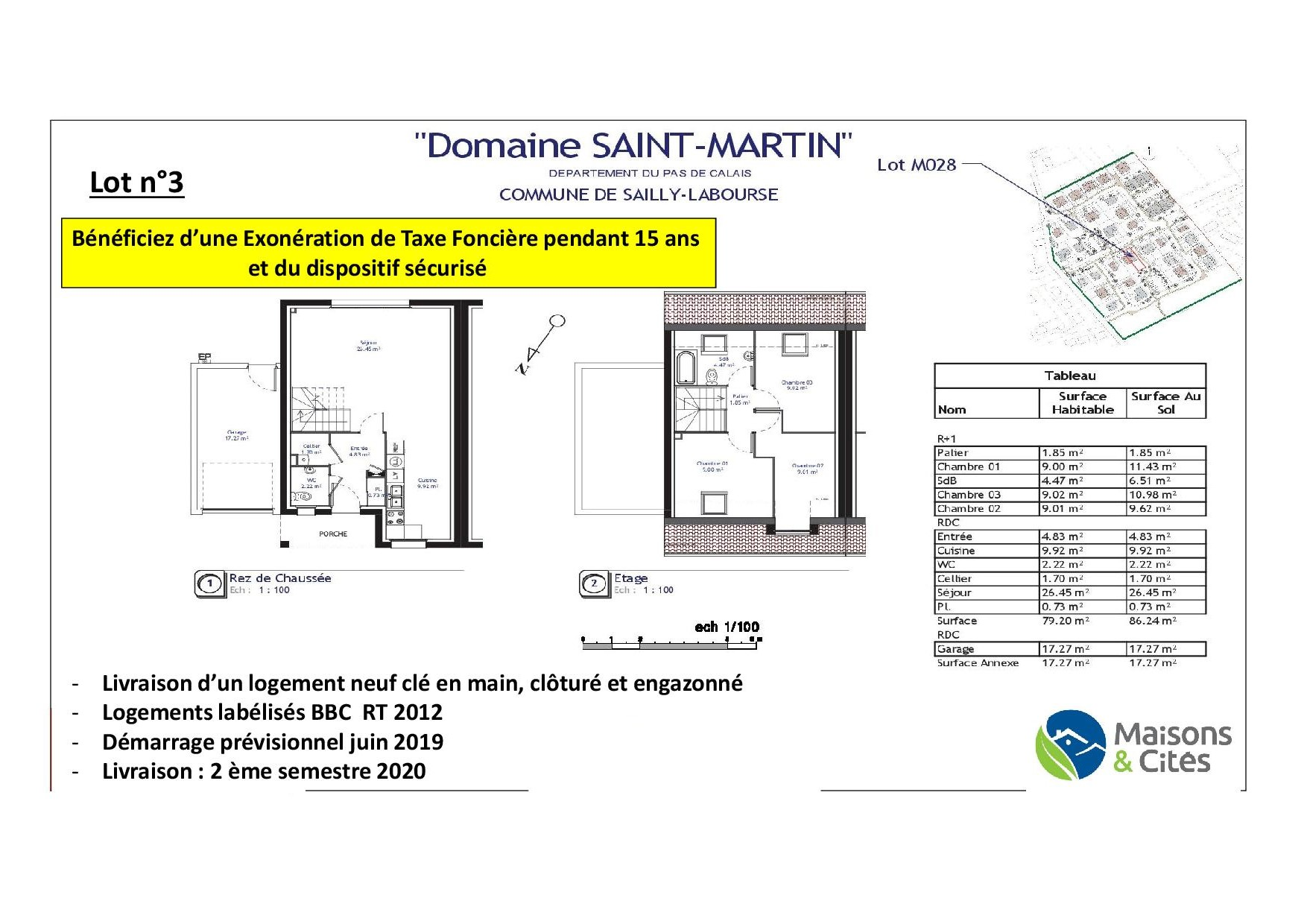 «Le Domaine de Saint Martin» – Sailly Labourse – Lot n°3