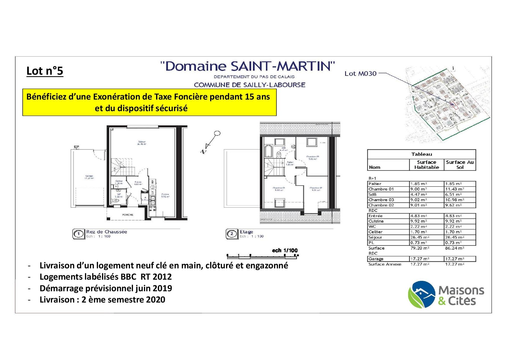 « Le Domaine de Saint Martin » – Sailly-Labourse – Lot 5