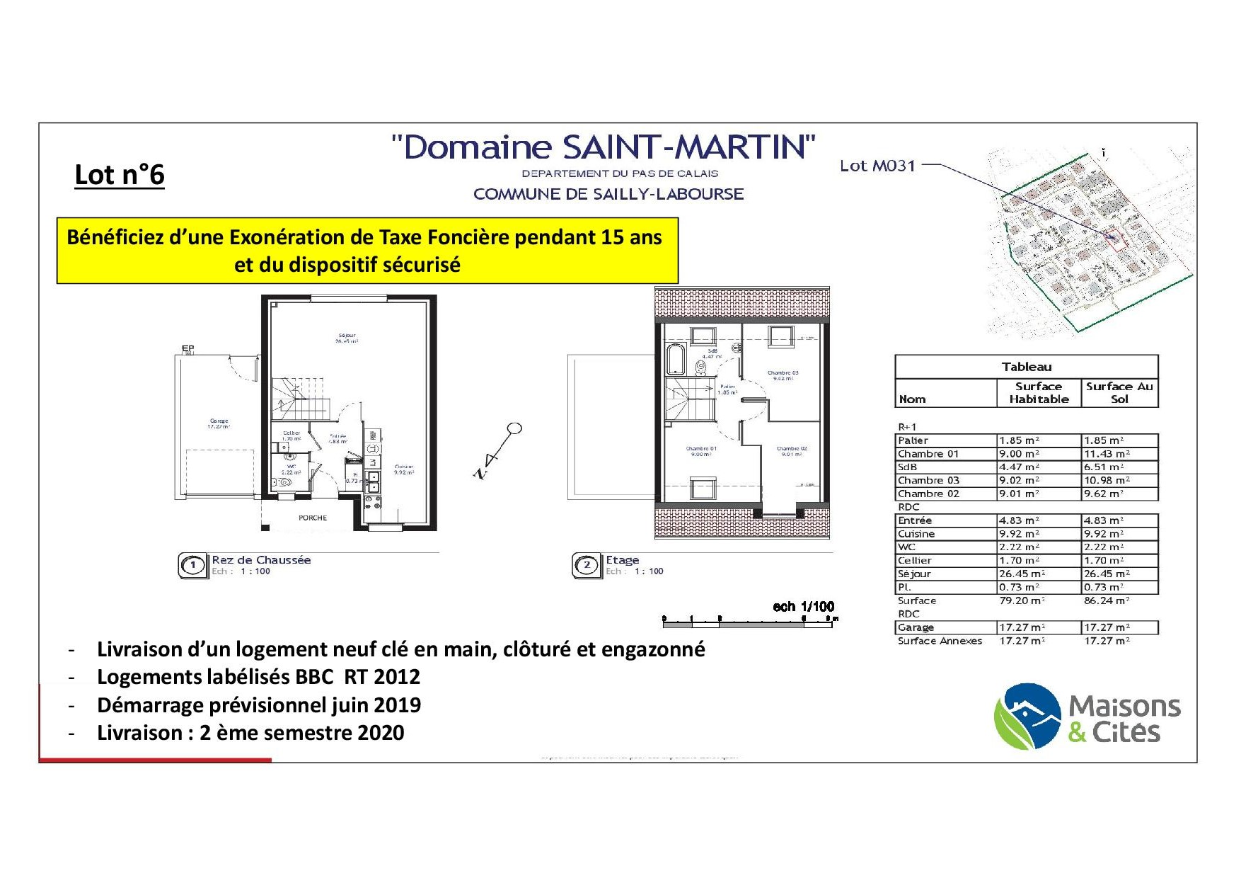 « Le Domaine de Saint Martin » – Sailly Labourse – Lot n°6