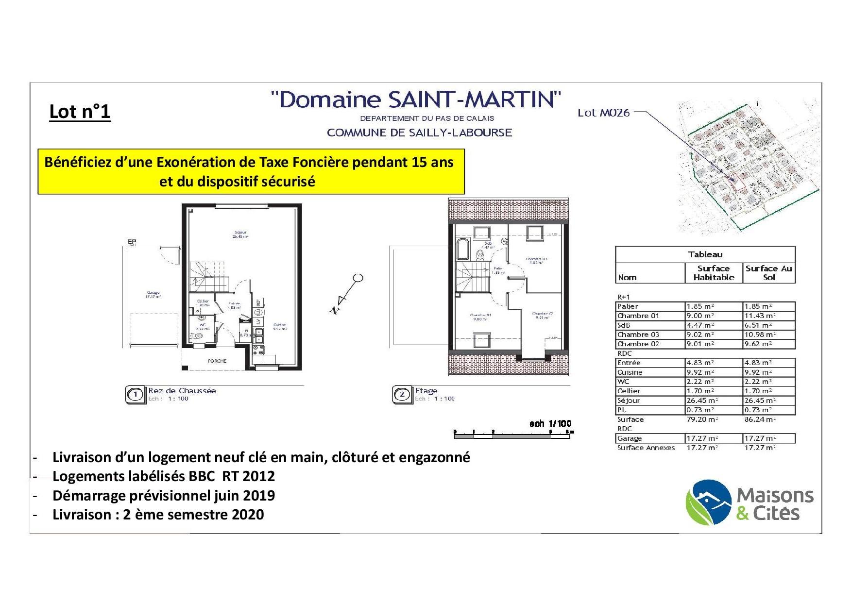 «Le domaine de Saint Martin»- Sailly Labourse – Lot n°1