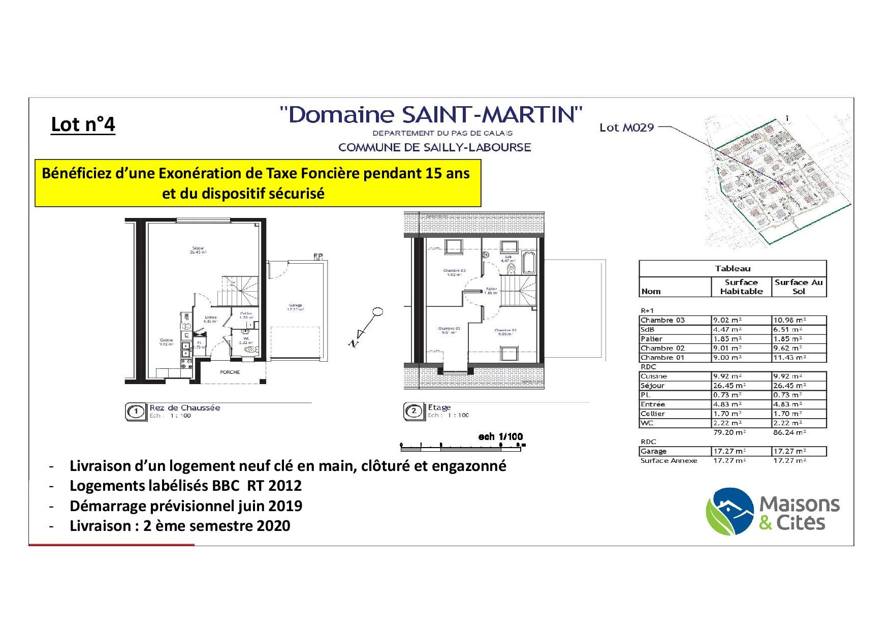 « Le Domaine de Saint Martin » – Sailly Labourse – lot n°4