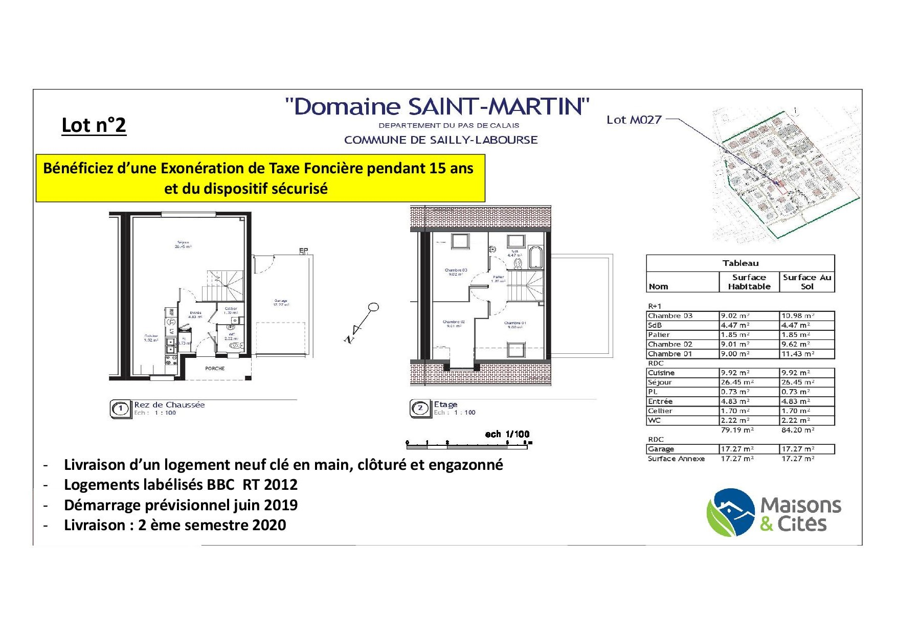 « Le  Domaine de Saint Martin » – Sailly Labourse – Lot n°2