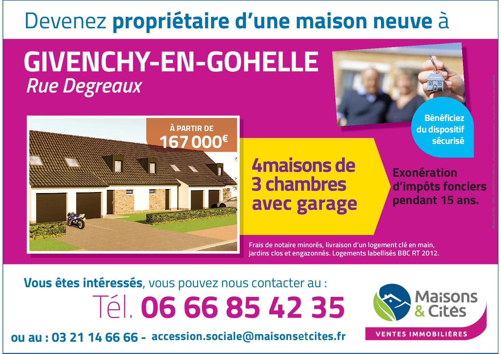 GIVENCHY-EN-GOHELLE- Rue DEGREAUX
