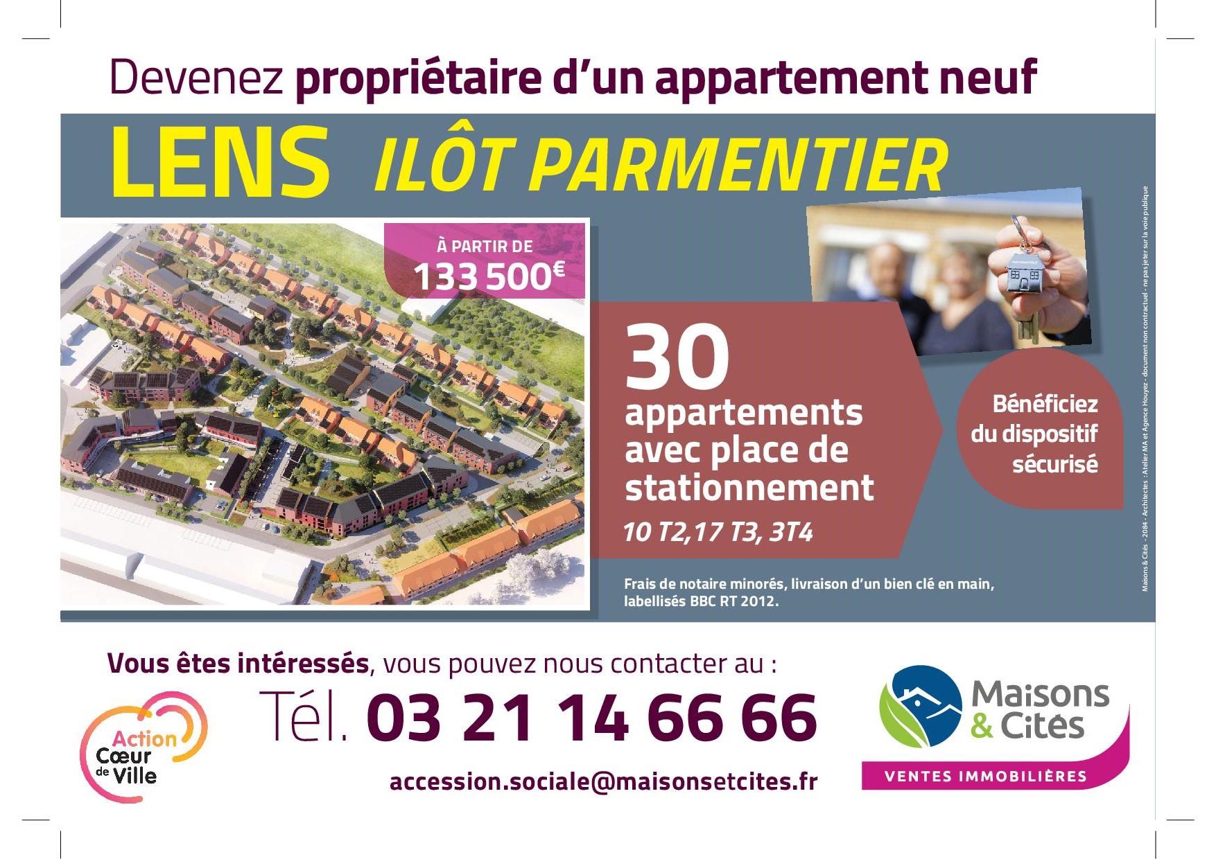 Lens – Îlot PARMENTIER