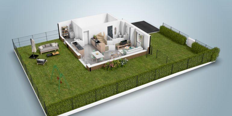 plans 3D T4 étage